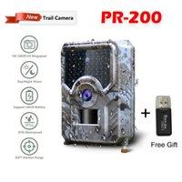 PR-200 12MP 49pcs 940nm IR LED Hunting Camera 18650 BATTERIA Wildlife Night Vision PO Traps Abraring CAM Tools Telecamere