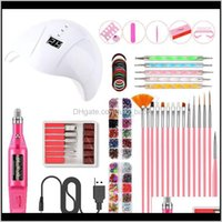 Smart 36W UV Lámpara Lámpara Herramientas de la lámpara Máquina de perforación 15pcs Brush Manicure Sets USB Pulidor Pen Jewelry Jank0 Art Kits ZNCJU