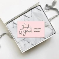 Packing Boxes LLD 50Pcs Pink Thank You For Supporting My Small Business Card Thanks Greeting Appreciation Cardstock Sellers Gift