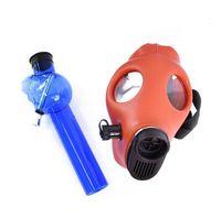 Silicone Mask Acrylic Smoking Pipe Gas Mask Pipes Hookahs Bongs Tabacco Shisha water pipe Plastic Oil Burner