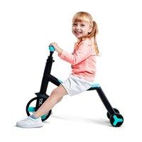 Conjuntos de presente Kids Bike Triciclo Scooter 3 em 1 crianças equilíbrio Bicicletas portáteis Passeio em brinquedos por 2-4 anos