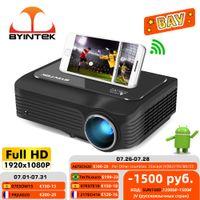 Byintek Moon K18 più economico 1920x1080 Full HD 1080P Mini portatile LCD LED LED LED 3D (Box TV Android 10 opzionale per smartphone)