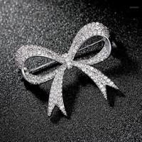 Lüks Rhinestone Düğün Yay Düğüm Broş Pin Elbise Kanat Düğmeler Gelin Düğün Buket Broşlar Takı Hediye Broches Mujer1 741 T2