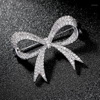 Rhinestone de lujo boda arco nudo broche pin pin pines buques nupcial boda ramo broches de joyería regalo broches mujer1 741 T2