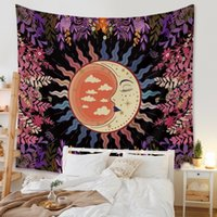 도매 130x150cm 태양과 문 태피스 트리 태양 하느님과 별과 함께 태피스 트리 환각 태피스 트리 장식 침실 거실
