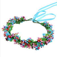 Handmade Rattan Flower Crown Headband for Women Headwear Floral Garlands Wreath Photography Props Hair Ornament Mom and Daught headband