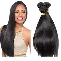 Бразильский странный прямые волосы Feave Beak 3 шт. Лот 100% Настоящие человеческие волосы 8А Девственные волосы Оптом Пучки Бразильские прямые Пакеты