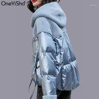 Mode nouveau manteau d'hiver Femme surdimensionnée laine coupe-vent à capuche épaissie épaissir des vestes chaudes plus la taille de la veste d'hiver 2020 femmes manteaux1