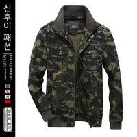 Männer Jacken Herbst Winter Militärische Stil Männer Jacke Tarnung Taktische Männliche Mantel Fliegen Fashion Zipperd Daily Kleidung