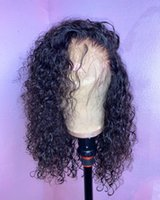 Lace Wigs Deep Curly Front Human Hair 13x6 Frontal Brazilian Wave Short Bob Wig180 Density Remy