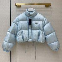 المرأة مصمم جاكيتات أزياء أسفل معطف الشتاء ستر مع شارة خطابات إمرأة سميكة قميص 4 أنماط معاطف