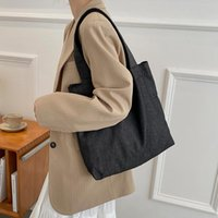 Evening Bags Female Tote Casual Canvas Women's Bag Large Capacity Ladies Korean Simple Solid Shoulder Shopper For Women Designer Handbag