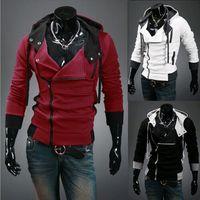 Plus Size M-6XL Herrenjacke Slim personalisierte Hutdesign Hoodies Sweatshirts Pullover Assassins Creed Mantel
