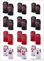 رجل إمرأة شبابشيكاغوالثيران32 كريس دون24.لوري مارككانين 8 زاكلافين أسود أحمر مخصص الفانيلة كرة السلة