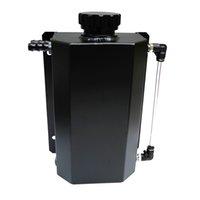 Universal Aceite Catch Tank Radiador Desbordamiento Desbordador Enfriador Coolador Recuperación Agua Botella de Agua Puede Pulido Depósito Aluminio 2000ml