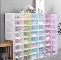 Shoes Boxes Set Multicolor Foldable Shoe Storage Plastic Clear Home Shoe Rack Organizer Stack Display Box