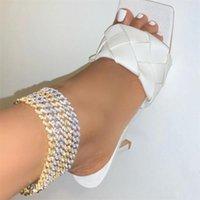 Nuovo Arrivato Hip Hop Foot Braccialetto della caviglia per le donne Giallo Gold Color Color Cuban Collegamento Catena Braccialetto ANKLET Braccialetto a piedi nudi Barefoot 507 T2