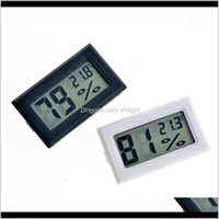 Sundries Home & Garden Drop Delivery 2021 Mini Digital Lcd Environment Thermometer Hygrometer Humidity Temperature Meter In Room Refrigerator