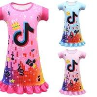 TikTok girls tutu baby dresses cartoon short sleeved skirts summer children's princess cute Girl toddler dress nightdress clothes G34VUCE