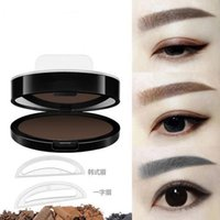 Pillow Professional Natural Eyebrow Stamp Waterproof Powder Seal Quick Makeup Eye Brow Cosmetic Beauty Tool Tattoo