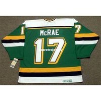 Uomo all'ingrosso basilico McCrae Minnesota North Stelle del Nord 1989 ccm Vintage Away a buon mercato Retro hockey jersey