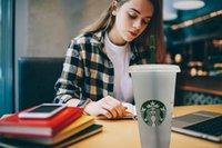 5pcs DHL Starbucks 24OZ 710ml Tumblers plastic Reusable transparent flat cup Straw with column lid Bardian mug Drinkware