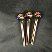 Nano plating Pyrex Glass Oil Burner Pipe Colorful quality pipes Great Tube tubes Nail tips