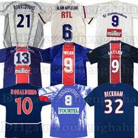 Retro Anelka Okocha Weah Classic Soccer Jersey 01 02 03 06 07 91 91 92 93 94 95 96 Ibrahimovic Ronaldinho كرة القدم قميص