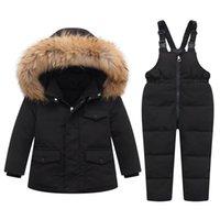 Down Coat 1-5 Years Children Jacket Boys And Girls Duck Suit Three Ways Wearing Warm Winter Detachable Big Fur Collar