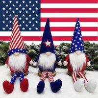 إمدادات حزب يوم الاستقلال الأمريكي قزم الحلي الحلي القزم طويل أرجل مدببة قبعة مجهولي الهوية دمية نجمة sanner puppet