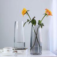 Vase Ins Wind Aurora Illusion Glass Nordic Style Flower Arrangement Hydroponic Vase Simple Wind Desktop Glass Bottle