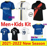 2021 2022 The Toffees Soccer Jerseys James Richarlison Kean Davies Calvert-Lewin Sigurdsson Digne Men Kids Kit Grigio Doucoure Y.Mina 21/22 Camicie da calcio Maillots