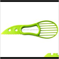 Vegetable Kitchen Dining Bar Home Garden Drop Delivery 2021 3In1 Avocado Slicer Fruit Cutter Corer Pulp Separator Shea Butter Knife Kitchen H