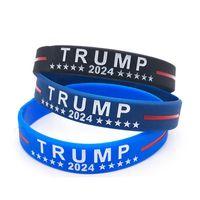 Trump 2024 pulsera de silicona negro azul pulsera Favor de la fiesta Zza3299
