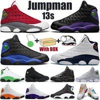 Moda Jumpman 13s Mens Sapatos de Basquete Court Roxo Hyper Royal Flint Vermelho Gold Glitter Aurora Verde Homens Mulheres Sports Trainers Sneakers com caixa