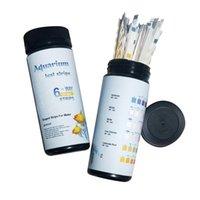 100pcs Acqua Tester Paper Ph Meter Residua cloro Nitrato Nitrite Carbonato Carbonato Durezza Striscia di prova per pool acquario Pish Tank Meter