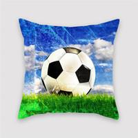 Football field stampa cuscino copertura del mondo tazza cuscino copertura del divano sedia auto decorazione domestica accessori cuscino cuscino