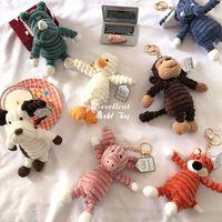 Çirkin Sevimli 33 cm Maymun Tilki Panda, Fil Bebek, Peluş Oyuncak, Parti Malzemeleri, Yılbaşı Çocuk Kız Doğum Günü Hediyesi Için Dolması Hayvan Kolye Süs, Ev Dekorasyon, Kullanım