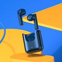 Original QCY T12S True Wireless Earphones Binaural Stereo Bluetooth ANC Headset Blue Open charging compartment push-pull pick and place