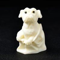 Tugua Nuss Elfenbein Niedlicher Hund Carving Room Decor Kinder Mädchen Heilende Geschenke Meditation