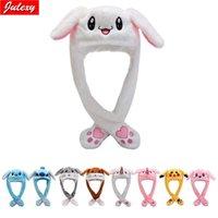 Rabbit Moving Ears Cute Cartoon Toy Kawaii Funny Birthday Gift Bunny Plush Cap Winter Hat For Kids Adult Girlfriend