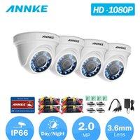 كاميرات Annke C51BT 1080P HD-TVI أمن كاميرا 4PCS القبة كيت مانعة لتسرب الماء و 66 قدم الرؤية الليلية الفائقة
