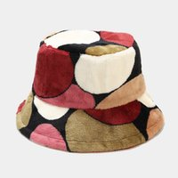 2021 Autumn and winter geometric Bucket Hat Fisherman Hat outdoor travel hat Sun Cap Hats for Men and Women 469