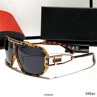 المصمم الاستقطاب نظارات النساء الرجال أزياء الصيف الرجال نظارات الشمس نظارات معدنية الذهب مكبرة لامرأة نظارات ظلال مع صندوق