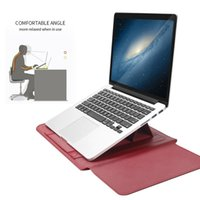 BGreen PU Leather Laptop Notebook Bag Case Waterproof Tablet Sleeve With Mouse Pad Mat Stand Power Adapter Cable Pouch Cases & Backpack