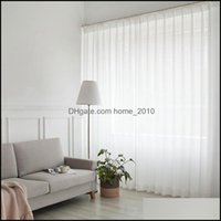 Treatments Textiles Home & Gardenwhite For Living Room Decoration Modern Chiffon Solid Sheer Voile Kitchen Curtain El Window Tle Drop Delive