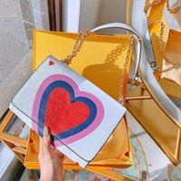 Оригинальный роскошный дизайнер женщина мода сумка 100% высококачественная кожа для ручной росписью слайдер металлическая цепь большая буква сумка регулируемая цепь мини-пакеты