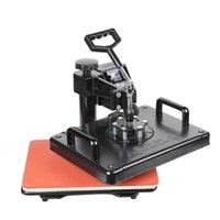 ماكينات نقل الحرارة عرض مزدوج مجانا 13 في 1 كومبو التسامي الصحافة آلة قميص لتخصيص تي شيرت / سلسلة المفاتيح 477H