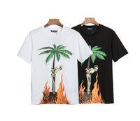 Tシャツ2020SSヨーロッパのアメリカ人のトレンディなブランドのヤシのココナッツの木がサイズの夏の男性と女性のカップルのための半袖