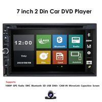 DIN 7 인치 Wince 시스템 자동차 DVD 플레이어 스테레오 비 GPS RDS 블루투스 SWC SD USB 터치 스크린 무료 후면 카메라